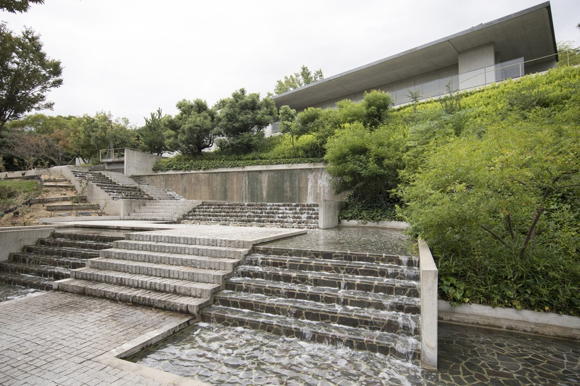 The Shikokumura Gallery  was designed by architect Tadao Ando