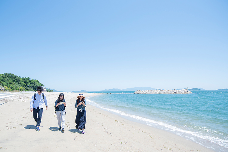 Three select beaches in Takamatsu