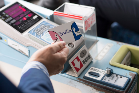 Touch your IruCa card against the card reader.